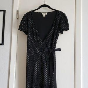 Loft polkadot dress with sash
